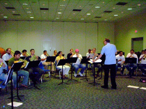 Rehearsing Friday with Guenter - 09 Jul 2005