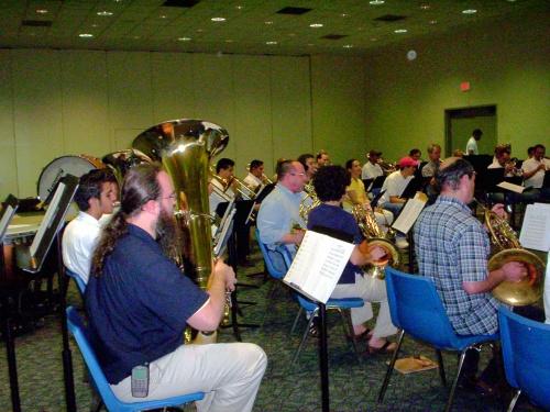 Rehearsal Friday from the tuba corner - 09 Jul 2005