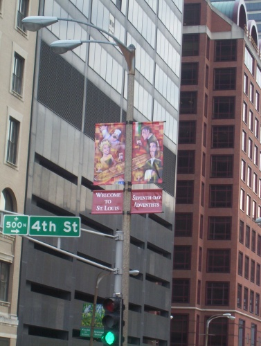 Street Sign Welcoming Adventists - 12 Jul 2005