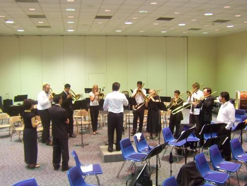 Ad hoc Trombone Choir - 12 Jul 2005